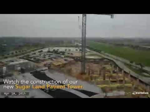 Sugar Land Patient Tower Construction Timelapse
