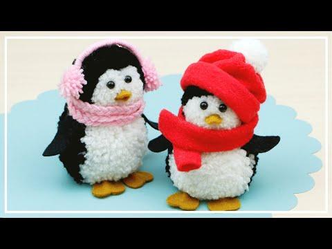 Как сделать Очень Симпатичных Пингвинов из Помпонов / Pom Pom Penguins Making / DIY NataliDoma