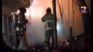 Se registró un incendio en una vivienda de la zona 1