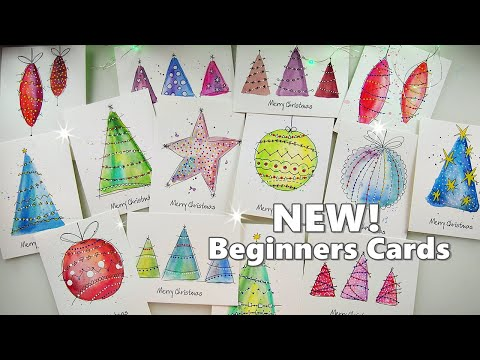 🌲 NEW 2019! The Easiest WATERCOLOR Christmas Cards for Beginners ♡ Maremi's Small Art ♡
