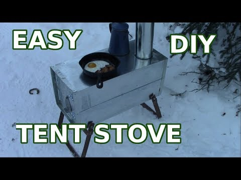 Make A Simple Cheap Tent Wood stove