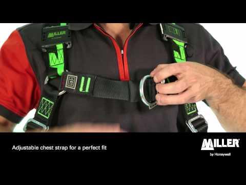 Miller H-Design BodyFit and BodyFix work positioning harnesses