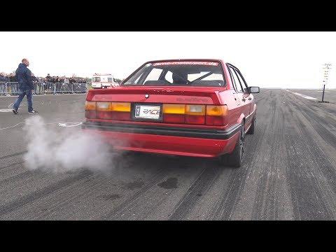800HP+ Audi 90 Typ 85 GTX35TTH Turbo Half Mile @ 276km/h
