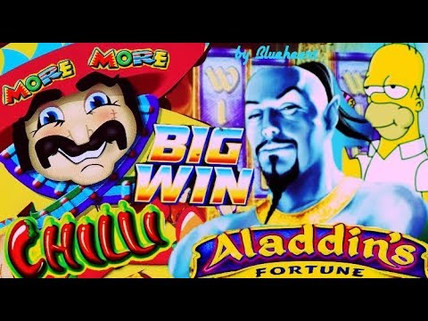 connectYoutube - ★ EXCELLENT FULL SCREEN WIN! ★ MORE MORE CHILLI slot ALADDIN'S FORTUNE slot BIG WINS and More!