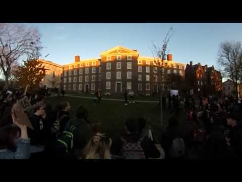 360 video: Brown University Walkout 11/16/2106