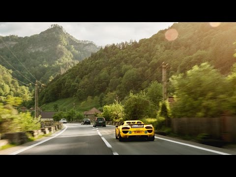 Porsche 918 & Aston Martin Vanquish on the World's Most Beautiful Road - Gumball 3000