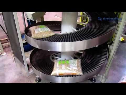 AmbaFlex Spiral Conveyor Bag handling