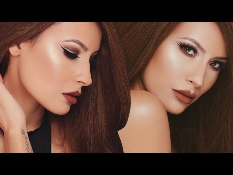 Matte Brown Smokey Eye Ombre Gold Liner | Desi Perkins