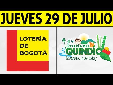Resultados Lotería de BOGOTÁ y QUINDÍO Jueves 29 de Julio 2021 | PREMIO MAYOR