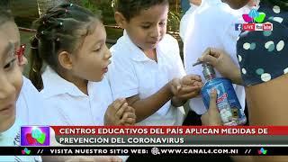 Centros Educativos del país aplican medidas de prevención del coronavirus