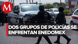 Policías se enfrentan en el Estado de México