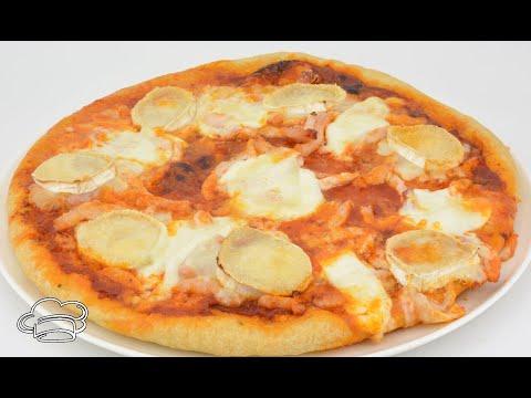 Como hacer pizza de pollo con MASA DE PIZZA CASERA
