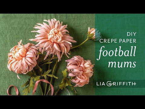 Gorgeous DIY Crepe Paper – Football Mums