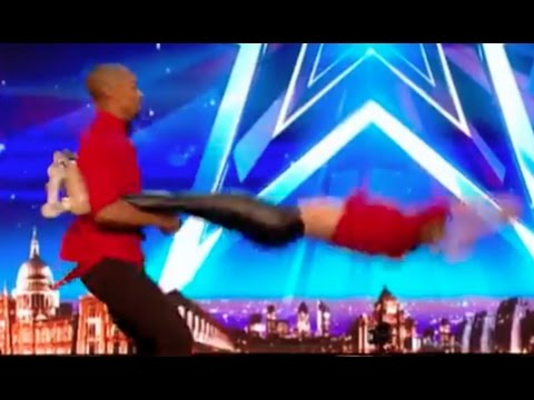 Annette & Yannick Roller Skating Couple | Audition 6 | Britain's Got Talent 2017