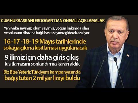 Cumhurbaşkanı Erdoğan'dan 4 Günlük Sokağa Çıkma Kısıtlaması
