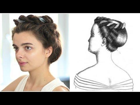 Following A Victorian Hair Tutorial