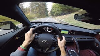2018 Lexus LC500h POV Drive on Winding Roads – Lovely Engine Sounds!