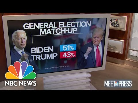 Biden Maintains 8 Point Lead, With 6 Weeks Until Election | Meet The Press | NBC News