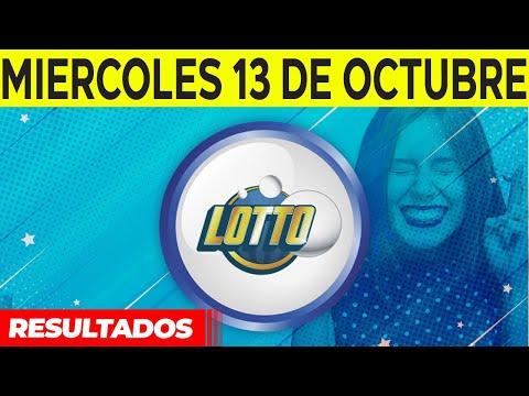 Sorteo Lotto y Lotto Revancha del miercoles 13 de octubre del 2021