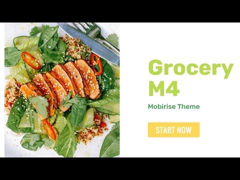 Mobirise Food Website Template | GroceryM4