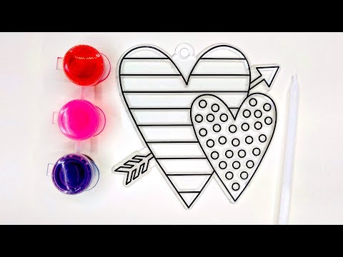 Colouring Valentine's Day DIY Craft Painting Set, Colour with Gel Paints, Art for Kids