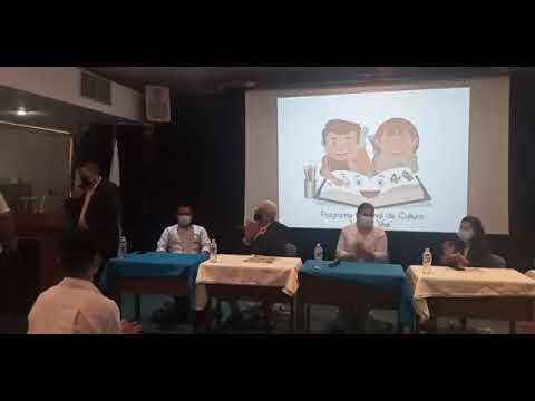 """Premiación y homenaje a Comtech por parte de Programa Nacional de cultura """"Leer es vivir""""."""
