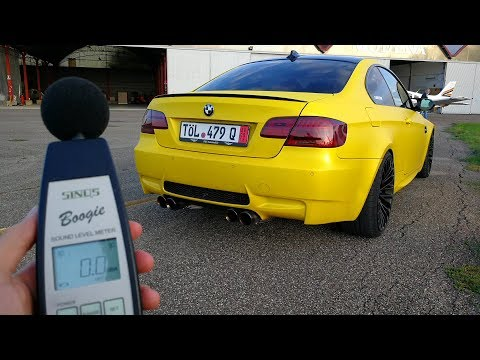 "How LOUD my Armytrix BMW M3 is"" - Decibel Test (Sub ENG)"