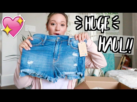 HUGE SPRING CLOTHING HAUL!! + I'M A HOLLISTER MODEL?!