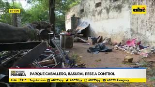 Parque Caballero: Basural pese a control