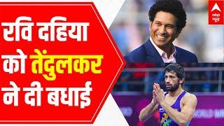 'What a turn around Ravi Kumar Dahiya', tweets Sachin Tendulkar - ABPNEWSTV