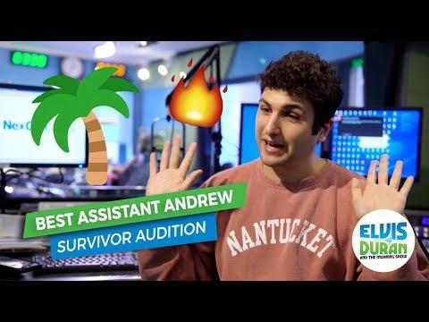 connectYoutube - Best Assistant Andrew's Survivor Audition Video   Elvis Duran Exclusive