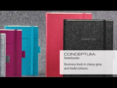 Felt Conceptum Notebooks by Sigel of Germany