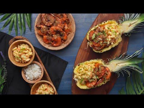 How To Make Garlic Shrimp And Hawaiian Macaroni Salad ? Tasty