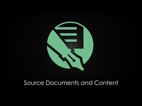 Source Documents And Content in Doc-To-Help 4