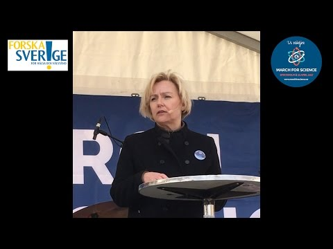 Helene Hellmark Knutsson talar på March for Science