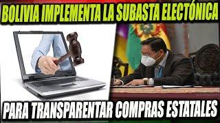 Bolivia lanza la Subasta Electrónica y el Mercado Virtual Estatal