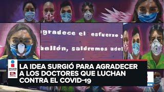 Muro para agradecer al sector salud en Aguascalientes