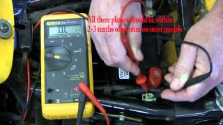 1 How to test a motorcycle stator - YouTube