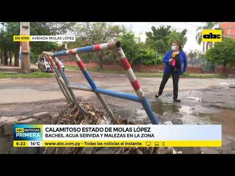 Calamitoso estado de la avenida Molas López