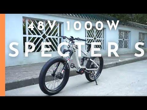 EUNORAU 48V1000W Specter-S Dual Battery Design All Terrain Full Suspension Fat Tire Electric Bike