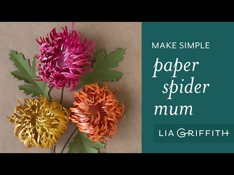 Make a Paper Spider Mum