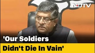 """If We Lost 20 Jawans, Toll Double On Chinese Side"": Minister RS Prasad - NDTV"