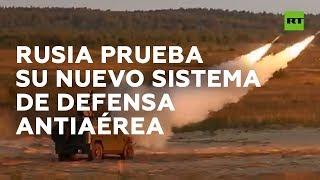 Ejército ruso destruye drones durante pruebas de su nuevo sistema de defensa antiaérea Guibka-S