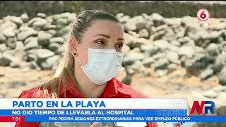 Funcionarios de la Cruz Roja relatan cómo fue asistir el parto de una mujer en la playa