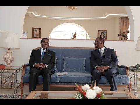 Le Chef de l'Etat a eu un entretien avec son homologue équato guinéen, à Abidjan