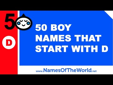 Download Youtube To Mp3 50 Boy Names That Start With D