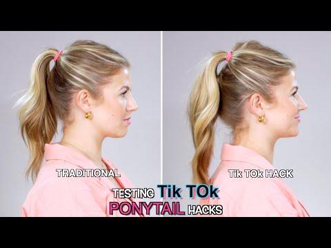 Testing TikTok PONYTAIL HACKS!