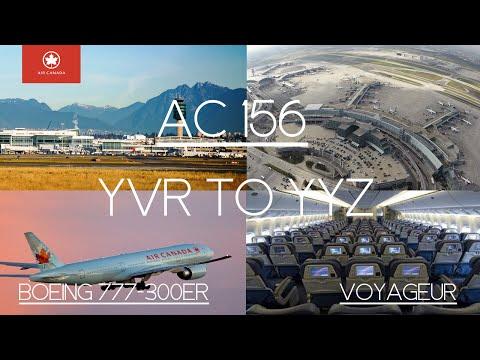 Air Canada 156 Vancouver International to Toronto Pearson International Airport