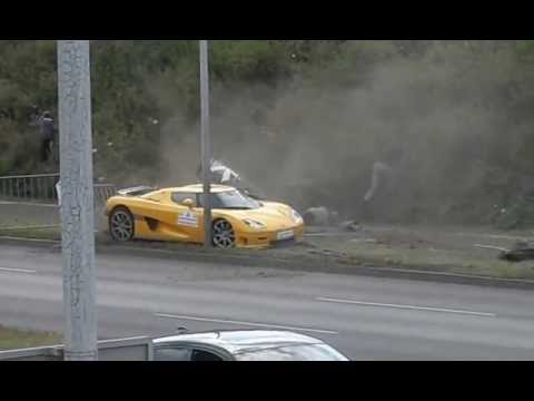 Horrible car accident during Gran Turismo Polonia 2013 in Poznan