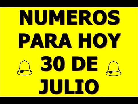 NUMEROS DE LA SUERTE PARA HOY 30 DE JULIO DEL 2021